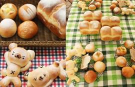 ミルククマパンとミルク食パン