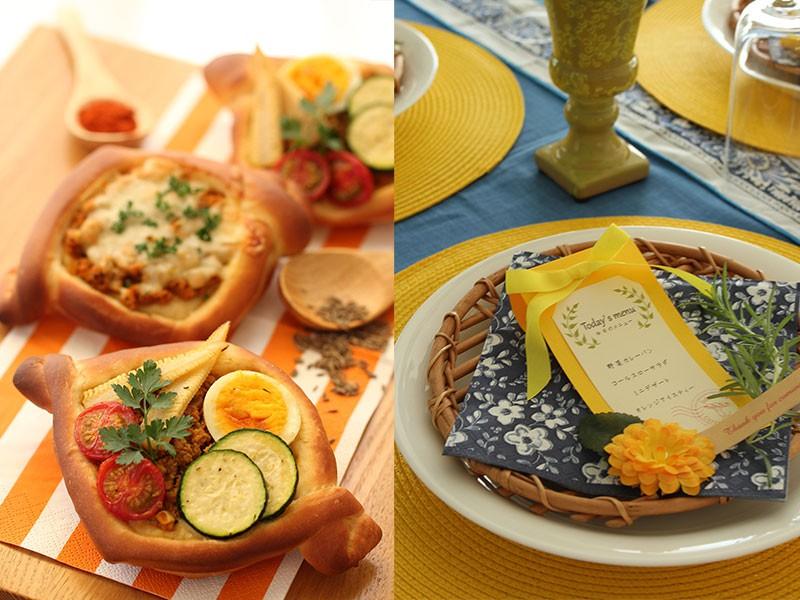 夏色★野菜カレーとチーズカレーパン