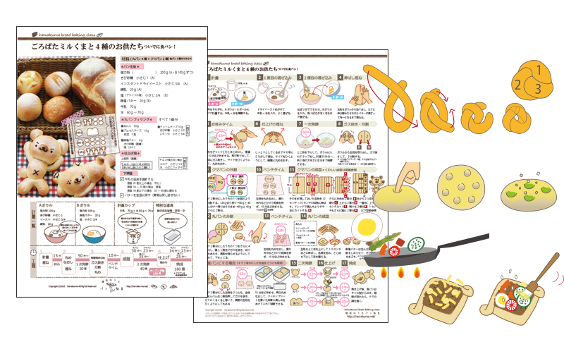 横浜おうちパン教室レシピデザイン