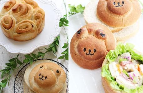 丸クマパンとシュガーバター