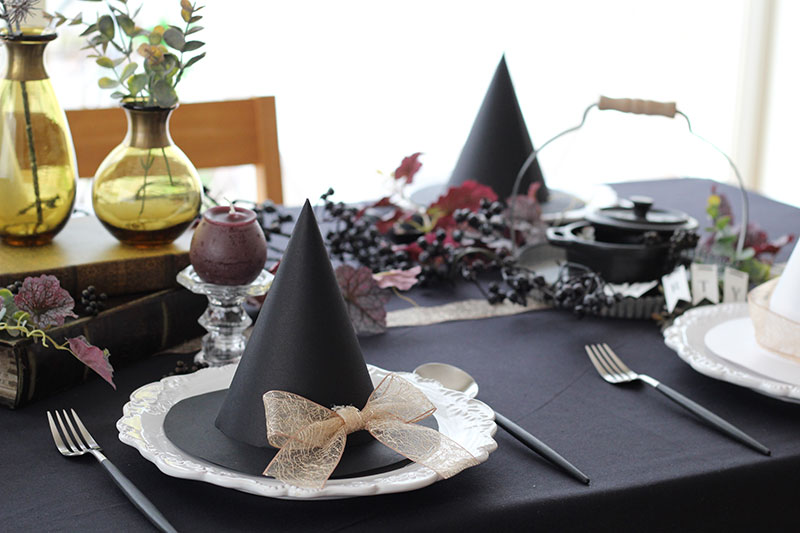 魔女のパーティーハット手作り